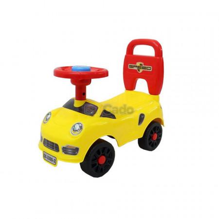 Mașină fără pedale galbenă model Happy Star 2 QX-3390