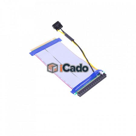 Prelungitor Adaptor Riser Panglică PCI-E pentru plăcile video / 16x la 16x