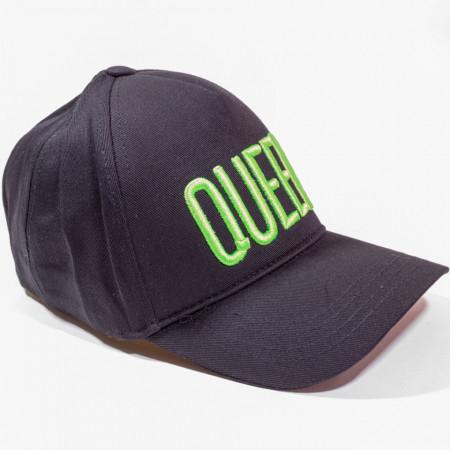 Șapcă neagră cu logo Queen verde fluorescent