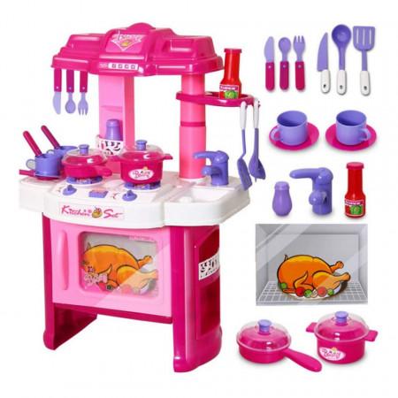 Bucătărie de jucărie cu sunete și lumini, Kitchen Set model 008-26 poza 1