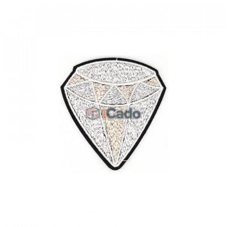 Diamant brodat Dimensiune: 7.5 x 8 cm Modalitate de aplicare: lipici