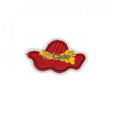 Emblema brodata in forma de palarie 6.5x4cm