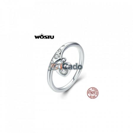 Inel din argint Hanging Heart - WOSTU 925