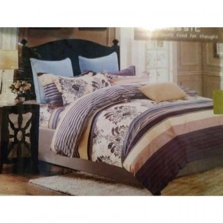 Lenjerie de pat cu 6 piese din bumbac satinat dimensiune 230 x 200 cm LP6P-1