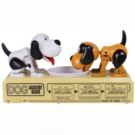 Pușculiță Dog Money Safe cu doi căței mereu flămânzi My Dog Piggy Bank