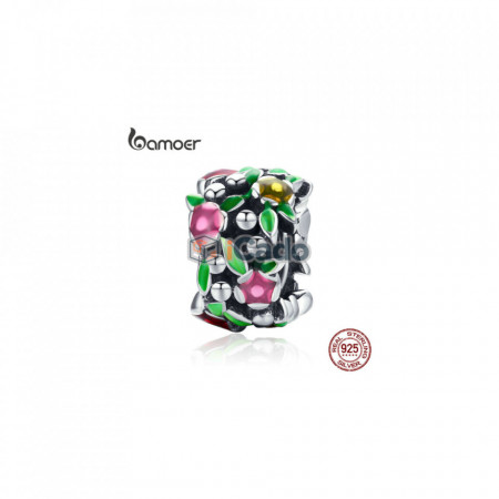 Talisman din argint Flower Wall Spacer Beads fit - BAMOER 925