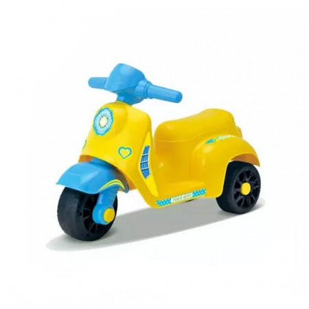 Tricicletă galbenă fără pedale Dudu Briving - Model QX-3392