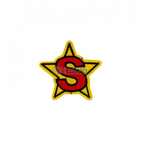 Emblema brodata in forma de stea 5.5x5cm