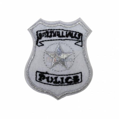 Emblema brodata Police 5.5x4.5cm