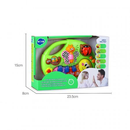 Fluturașul și Omida, pian de jucărie interactiv Hola 927 poza 6