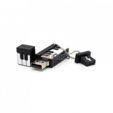Memorie USB de 16GB în formă de pian (Alb / Negru) poza 2