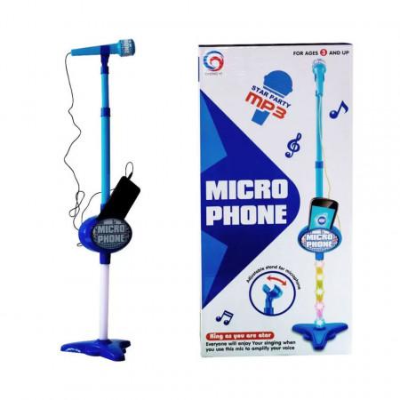 Microfon Karaoke cu lumini 3D pentru băieței de 3 ani+
