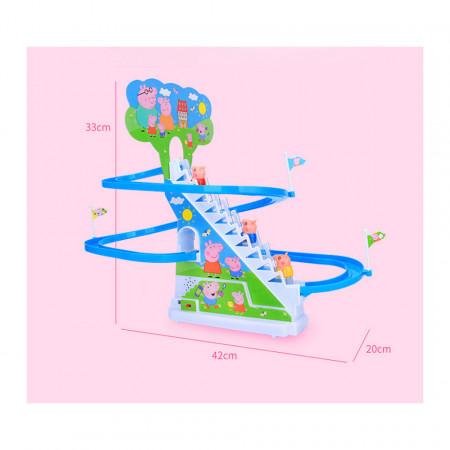 Purcelușii Peppa Pig mereu fericiți - Roller Coaster poza 3