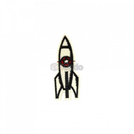 Rachetă brodată 3 x 7,5 cm