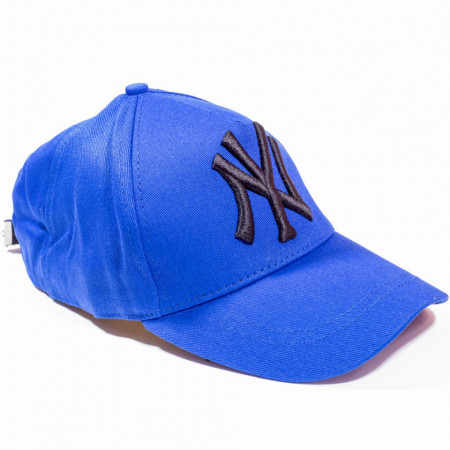 Șapcă albastră logo New York negru