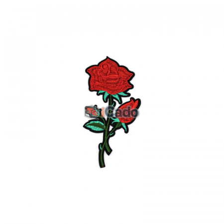 Trandafir brodat 7x13cm