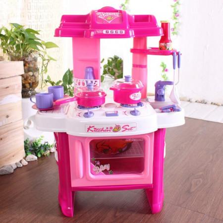Bucătărie de jucărie cu sunete și lumini, Kitchen Set model 008-26 poza 3