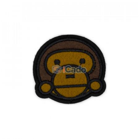 Cap de maimuta brodat Dimensiune: 6.5 x 6 cm Modalitate de aplicare: lipici