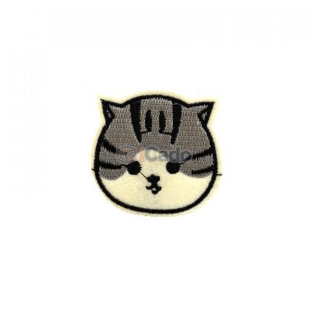 Cap de pisica brodat Dimensiune: 5 x 5 cm Modalitate de aplicare: lipici