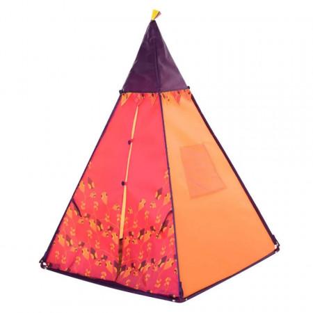 Cort de joacă Indian pentru copii cu lumini și muzică - roșu, portocaliu