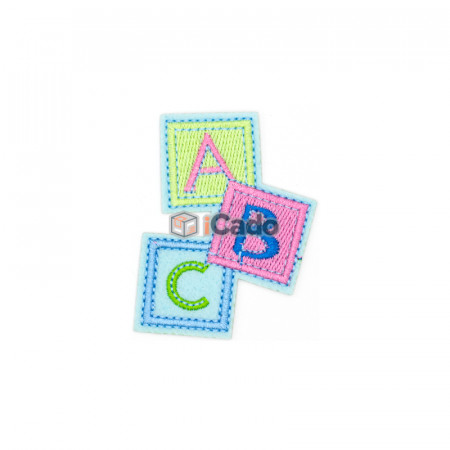 Emblema brodata A B C 5.5x7cm