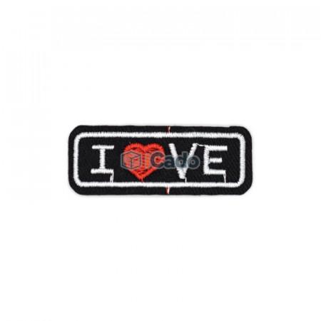 Emblema brodata I Love 5x2cm