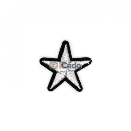 Emblema brodata in forma de stea 4x4cm