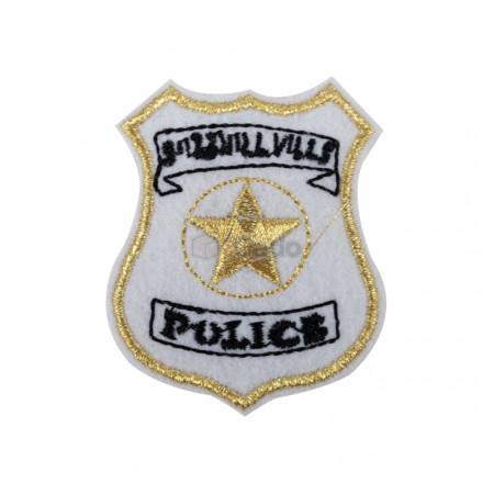 Emblema brodata Police 5.5x4.5cm gold