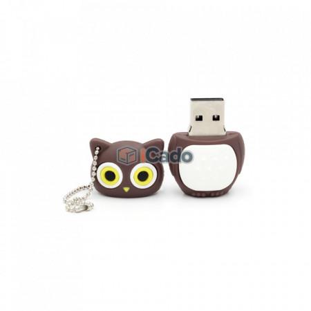 Memorie USB de 16GB în formă de bufnită USB 2.0 maro poza 3