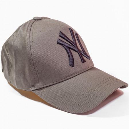 Șapcă gri logo New York negru