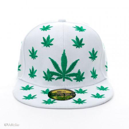 Șapcă Marijuana albă poza 2