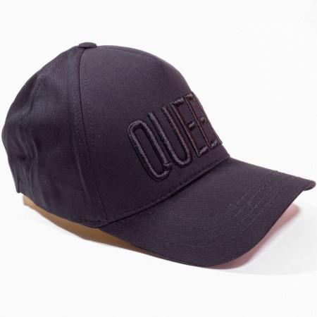 Șapcă neagră cu logo Queen negru