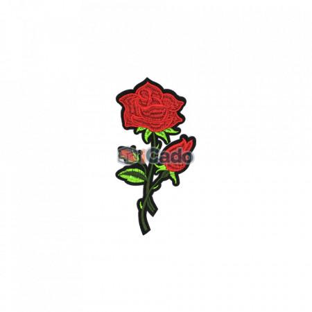 Trandafir brodat9 x 17 cm