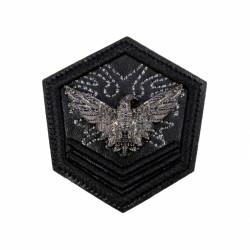 Emblema brodata 6.5x7cm vultur