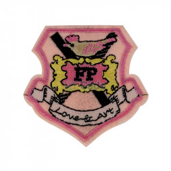 Emblema brodata Love & Art 7x6.5cm