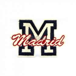 Emblema brodata Madrid 10.5x7cm