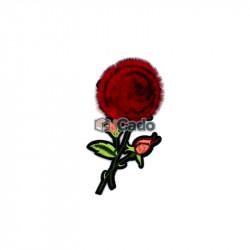 Floare brodata cu puf 7x13.5cm