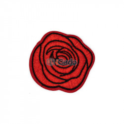 Trandafir brodat 6.5x6cm