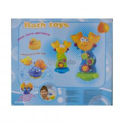 Crabul și prietenii, jucărie pentru baia copiilor (8815) poza 3