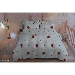 Lenjerie de pat cu 6 piese din bumbac satinat 250 x 230 cm LP6P-29