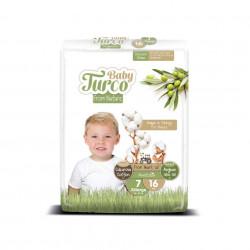 Set 16 Scutece Bumbac, Vegane pentru Copii 20 - 30 Kg Numărul 7