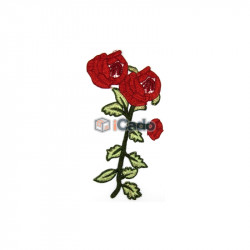 Trandafir brodat 14x24cm