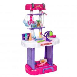 Trusă Doctor copii, Set doctor 3 în 1 cu Stetoscop, Troler W087
