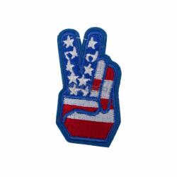 Emblema brodata Victorie 5.5x3.5cm America 2