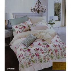Lenjerie de pat cu 6 piese din bumbac satinat 250 x 230 cm LP6P-10