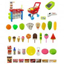 Supermarket de jucărie Dessert Shop Play Magazin de jucărie cu 46 de piese