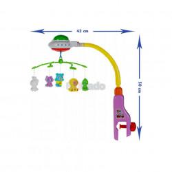 Carusel muzical pentru bebeluși Crib Bell 917 poza 2