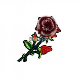 Floare brodata cu puf 9x17.5cm