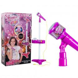 Microfon Super Star cu proiector pentru fetițe