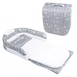 Pătuț portabil GRI pentru bebeluși, tip geantă